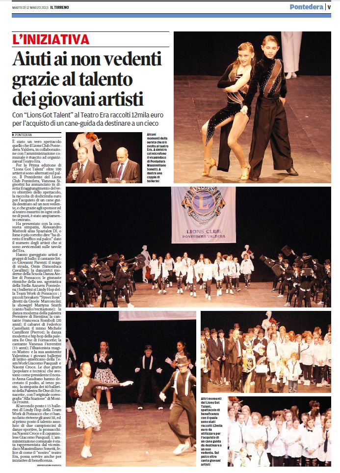 IL TIRRENO 12.3.2013