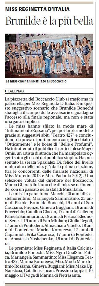 IL TIRRENO - 29.04.2013 